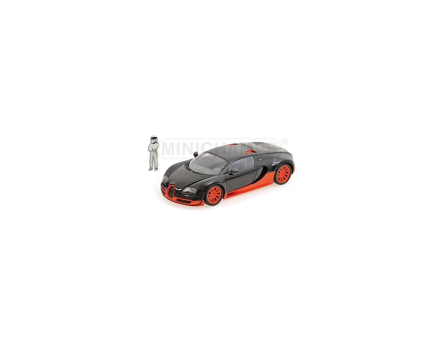 minichamps 519101101 bugatti veyron super sport carbon orange top gear modellino die cast models. Black Bedroom Furniture Sets. Home Design Ideas