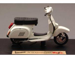 Maisto MI4337 VESPA PK 125 AUTOMATICA 1984 CREAM 1:18 Modellino