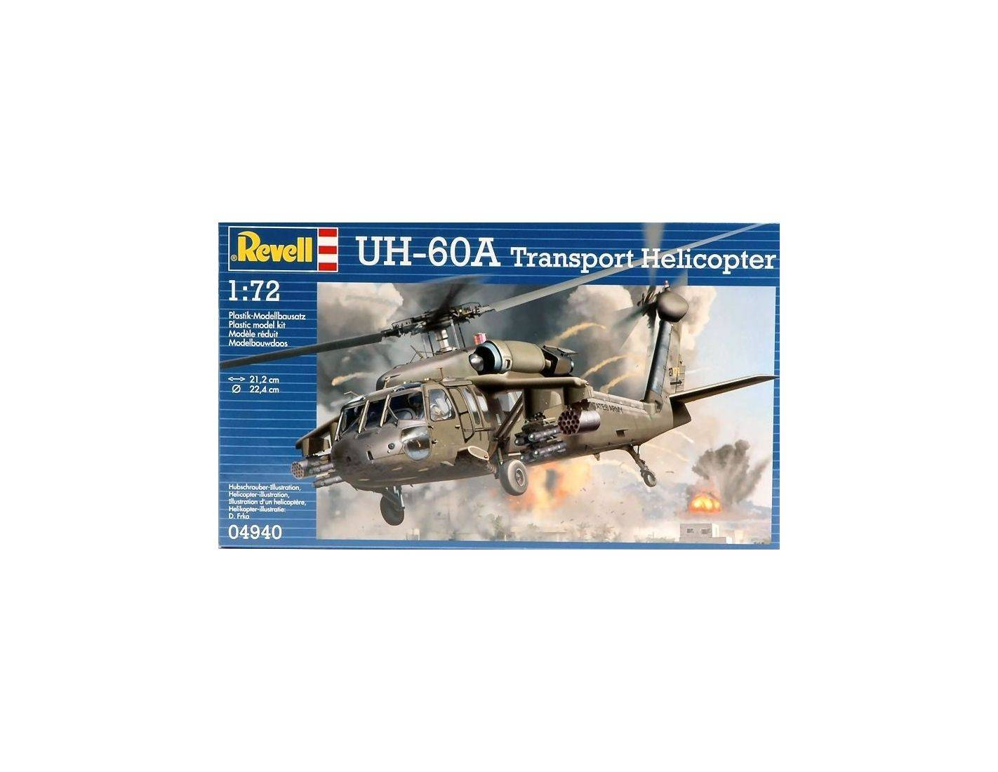 Revell RV4940 UH-60A TRANSPORT HELICOPTER KIT 1:72 ...