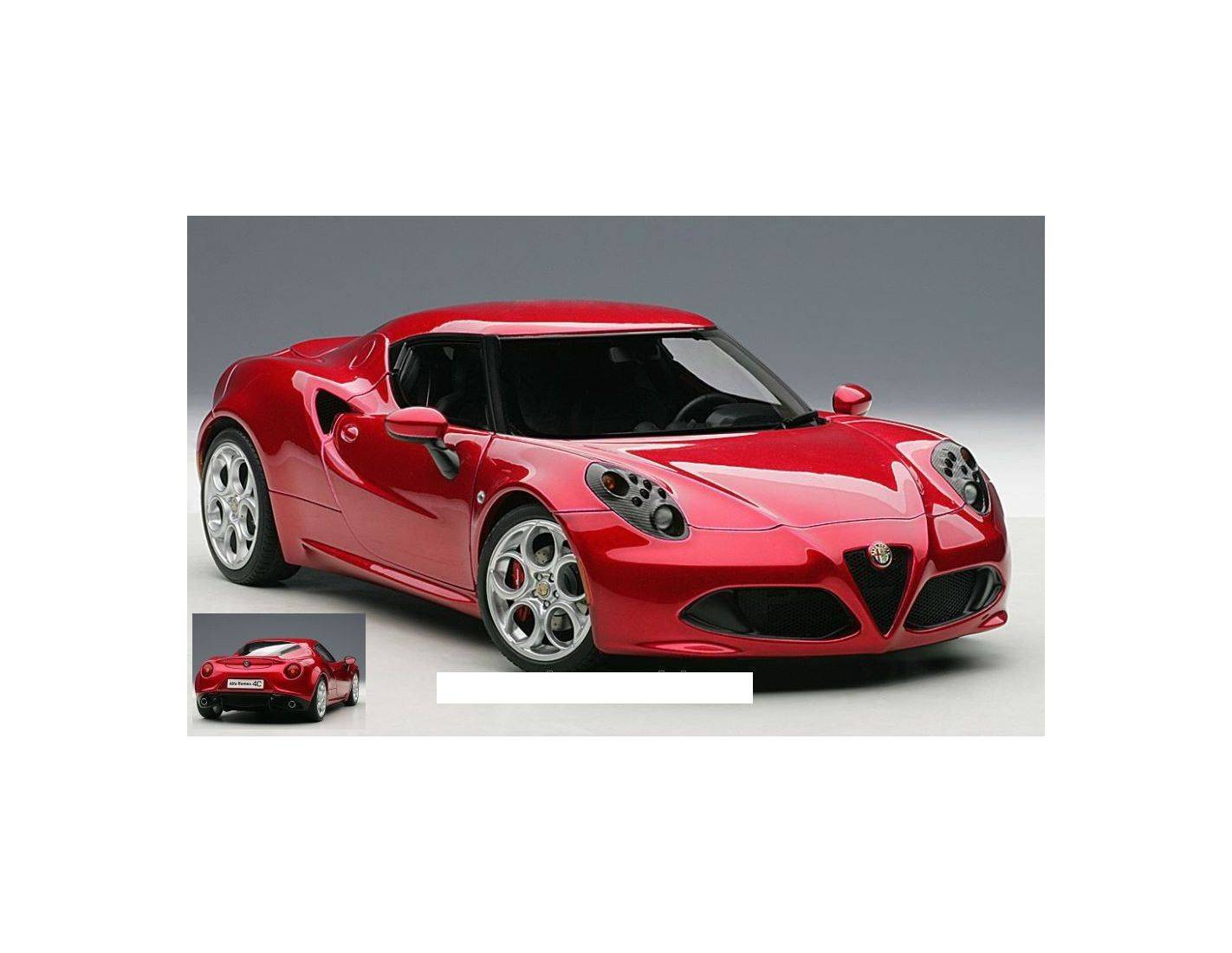 auto art gateway aa70186 alfa romeo 4c 2013 rosso competizione 1 18 modellino die cast models. Black Bedroom Furniture Sets. Home Design Ideas