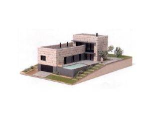Domus Kits 40601 Villa Moderna (Mattoni chiari) 200x300x115mm 1:87 Kit Modellino