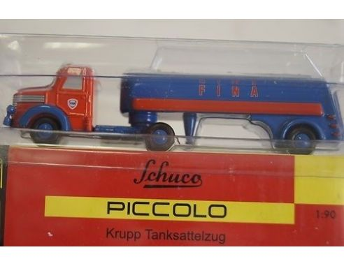 Schuco 1532 KRUPP + TANKSATTELZUG FINA Modellino