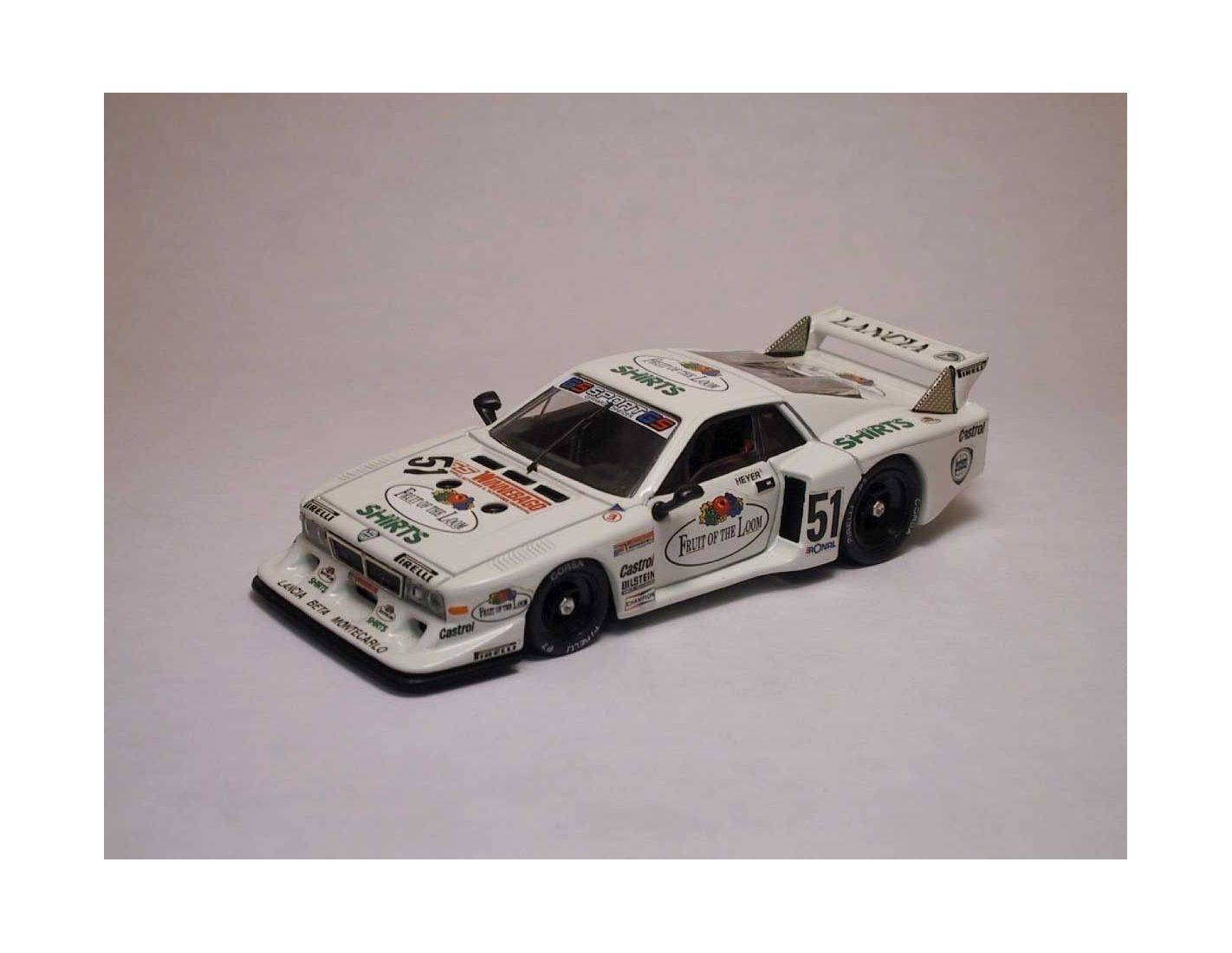 Best Model BT9197 LANCIA BETA MONTECARLO N.51 2nd ZOLDER 1980 H.HEIER 1:43 Modellino