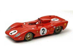 Best Model BT9221 FERRARI 312 P SPYDER N.2 ACCIDENT MONZA 1969 P.RODRIGUEZ-P.SCHETTY 1:43 Modellino