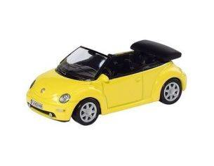 Schuco 3315095 VW NEW BEETLE CABRIO YELLOW 1/64 Modellino