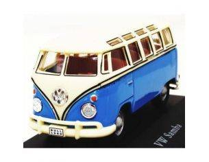 Schuco 3316241 VW BUS T1 SAMBA YELLOW-LIGHT BLU Modellino