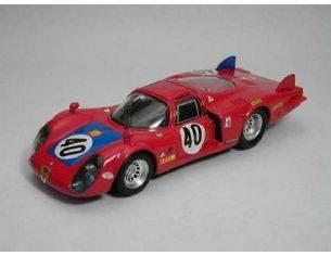 Best Model BT9255 ALFA ROMEO 33.2 N.40 6th LM 1968 M.CASONI-G.BISCALDI 1:43 Modellino