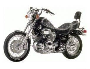 Schuco 6660 YAMAHA VIRAGO XV-110 BLACK 1/10 Modellino