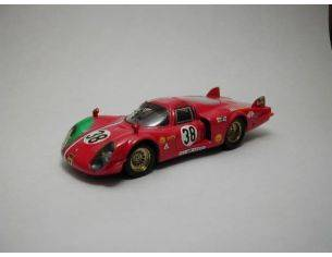 Best Model BT9284 ALFA ROMEO 33/2 N.38 32th LM 1969 GOSSELIN-BOURGOIGNE 1:43 Modellino