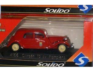 Solido 4166 CITROEN 15V POMPIERS RED 1939 1/43 Modellino