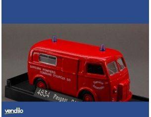 Solido SL4834 PEUGEOT D 4 VITRE'1964 POMPIERS 1:43 Modellino
