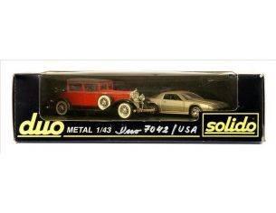 Solido 7042 COFFRET DUO CADILLAC/CHEVROLET 1/43 Modellino