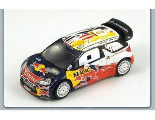 Spark Model S3322 CITROEN DS3 WRC N.2 WINNER GERMAN RALLY 2011 1:43 Modellino