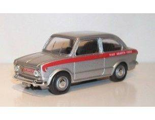 TelModel 08 FIAT 1000 ABARTH GREY STRIP RED 1/43 Modellino