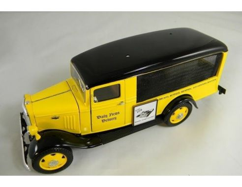 Tin's Manufactured 76502 CHEVROLET CANOPY '35 YELLOW 1/24 Modellino