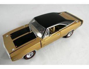 Tin's Manufactured 77003 DODGE CHARGER R/T GOLDEN '70 1/24 Modellino