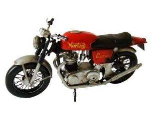 Tinplate 1377 RED NORTON MOTORCYCLE 1/8 Modellino