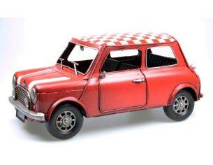 Tinplate 1624 MINI COOPER RED RED/WHITE CHECK ROOF Modellino