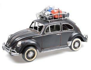 Tinplate 2200 VW BEETLE BLACK 1934 W/BAGGAGE SHELF Modellino