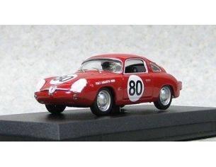 Best Model BT9487 FIAT ABARTH 750 ZAGATO N.80 WINNER SEBRING 1961GLERTZ-LIESS 1:43 Modellino