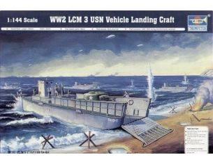 TRUMPETER 00102 LCM 3 USN LANDING CRAFT D-DAY NORMANDY 1944 Modellino