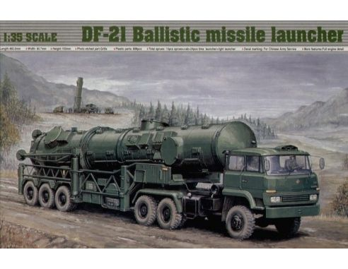 TRUMPETER 00202 DF-21 BALLISTIC MISSILE LAUNCHER Modellino