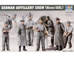 TRUMPETER 00409 GERMAN ARTILLERY CREW MORSER KARL Modellino