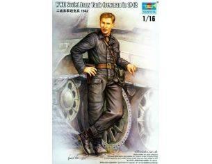 TRUMPETER 00701 WWII SOVIET ARMY TANK CREWMAN IN 1942 Modellino