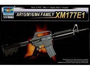 TRUMPETER 01902 AR15/M16/M4 FAMILY XM177E1 Modellino