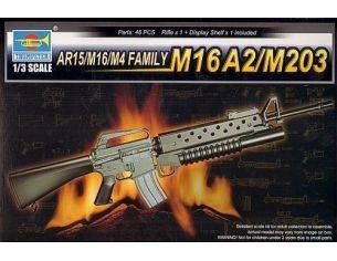 TRUMPETER 01904 AR15/M16/M4 FAMILY-M16A2/M203 Modellino
