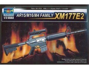 TRUMPETER 01905 AR15/M16/M4 FAMILY XM177E2 Modellino