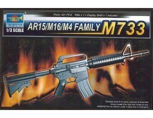 TRUMPETER 01906 AR15/M16/M4 FAMILY M733 Modellino