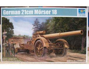 TRUMPETER 02314 GERMAN 21 cm MORSER 18 HEAVY ARTILLERY Modellino