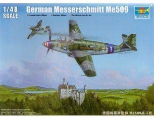 TRUMPETER 02849 GERMAN MESSERSCHMITT ME 509 FIGHTER Modellino