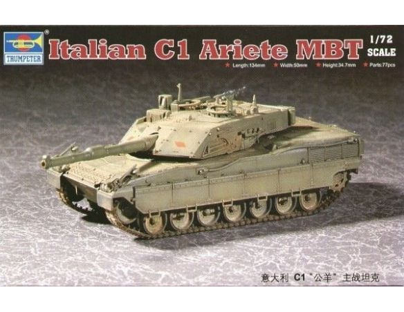 TRUMPETER 07250 ITALIAN C1 ARIETE MBT Modellino