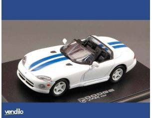 Universal Hobbies UH2000 DODGE VIPER WHITE/BLU 1:43 Modellino