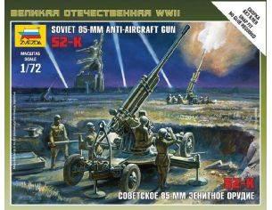Zvezda Z6148 SOVIET 85 mm ANTI AIRCRAFT GUN WWII  KIT 1:72 Modellino