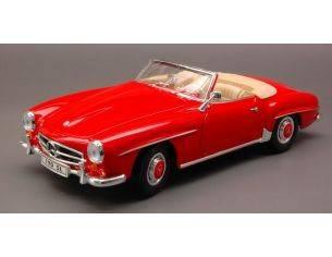 Welly WE1297 MERCEDES 190 SL CABRIO 1955 RED 1:18 Modellino