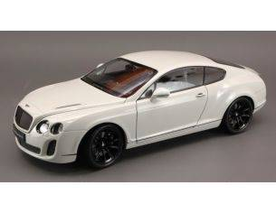 Welly WE4266 BENTLEY CONTINENTAL GT SUPERSPORTS 2009 WHITE 1:18 Modellino