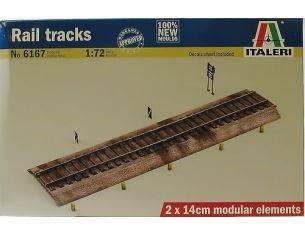 Italeri IT6167 RAIL TRACKS KIT 1:72 Modellino
