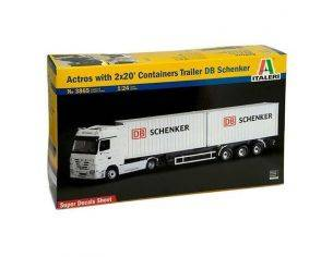 Italeri IT3865 MERCEDES ACTROS W/CONTAINER 20 SCHENKER KIT 1:24 Modellino