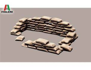 Italeri IT0406 SANDBAGS KIT 1:35 Modellino