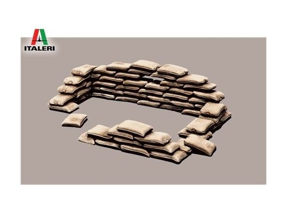 Italeri IT0406 SANDBAGS KIT 1:35 Modellino