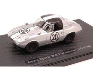 Ebbro EB44621 TOYOTA SPORTS 800 FUNABASHI CCC N.20 1965 1:43 Modellino