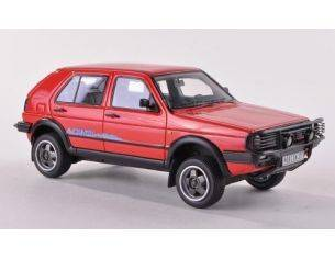 Neo Scale Models NEO44377 VW GOLF II COUNTRY 1990 RED 1:43 Modellino
