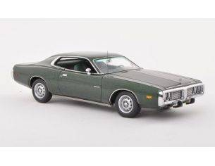 Neo Scale Models NEO44751 DODGE CHARGER 1973 MET.DARK GREEN 1:43 Modellino