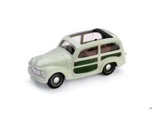 Brumm BM0028-01 FIAT 500 C BELVEDERE APERTA 1951 VERDE CHIARO 1:43 Modellino