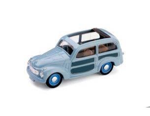 Brumm BM0028-02 FIAT 500 C BELVEDERE APERTA 1951 AZZURRO CENERE 1:43 Modellino