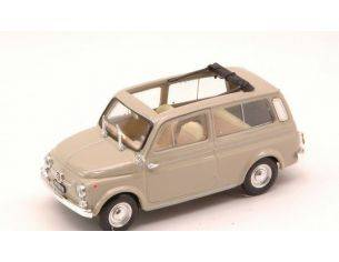 Brumm BM0424-07 FIAT 500 GIARDINIERA 1960 APERTA BEIGE SABBIA 1:43 Modellino