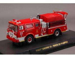 Code3 COD12582 FIRE RESCUE FDNY ENGINE 33 MACK OF PUMPER 1:64 Modellino